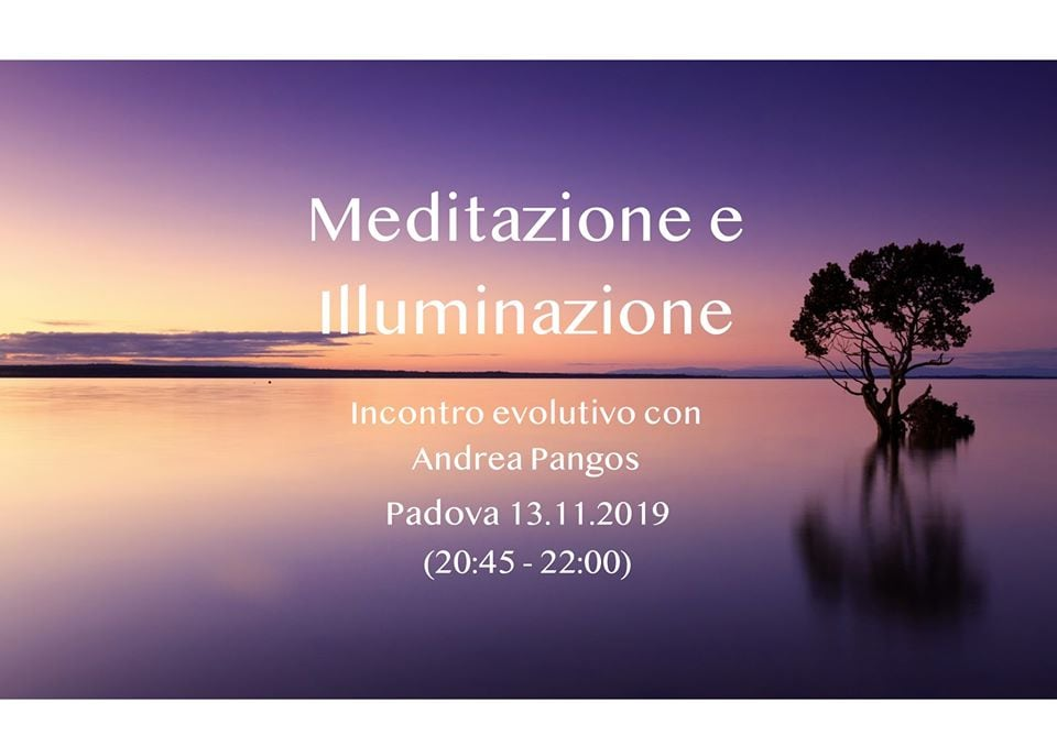 13 novembre Meditazione e Iluminazione
