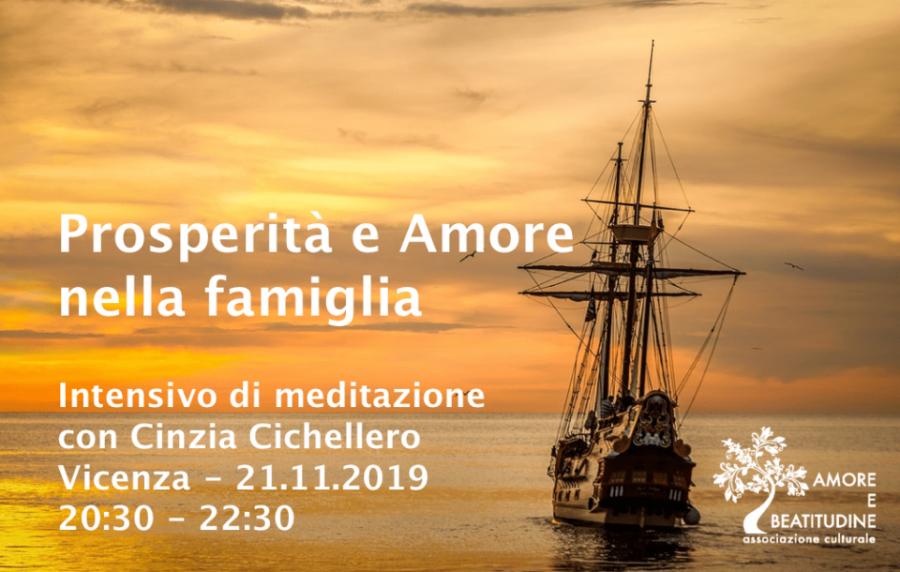 21 novembre Prosperità e Amore nella Famiglia – Intensivo di meditazione